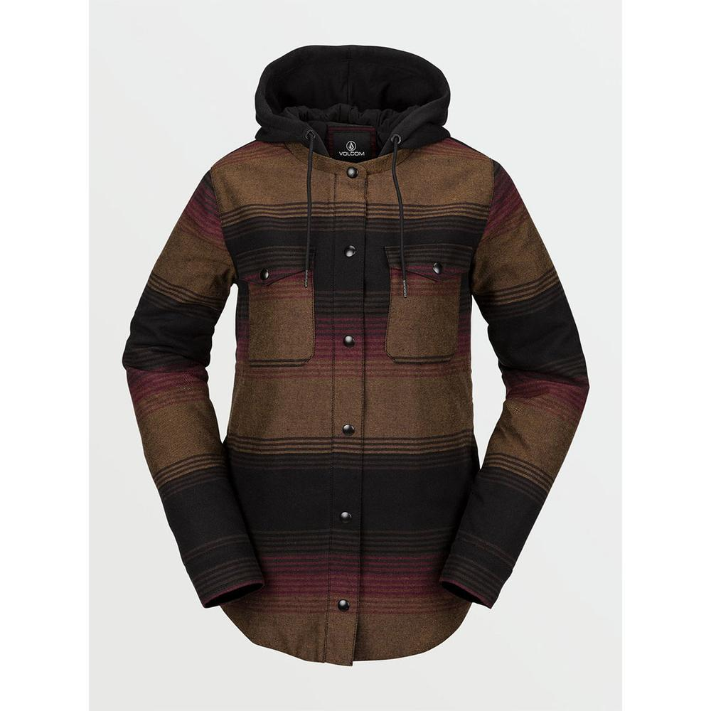Volcom Hooded Flannel Jacket
