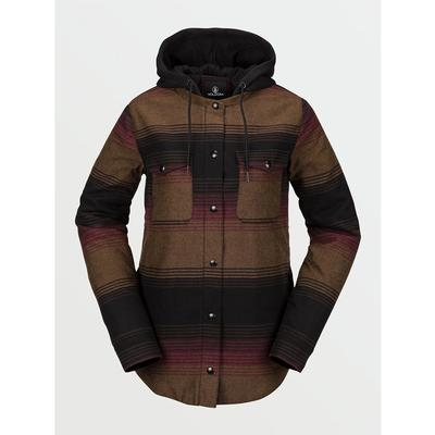 W HOODED FLANNEL JKT