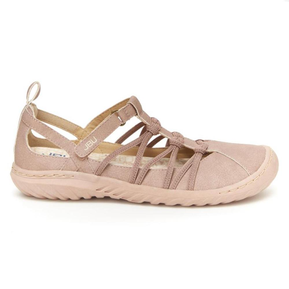 Sporty Flats Non- Slip Memory Foam Sandals Nubuck Closed Toe Comfort