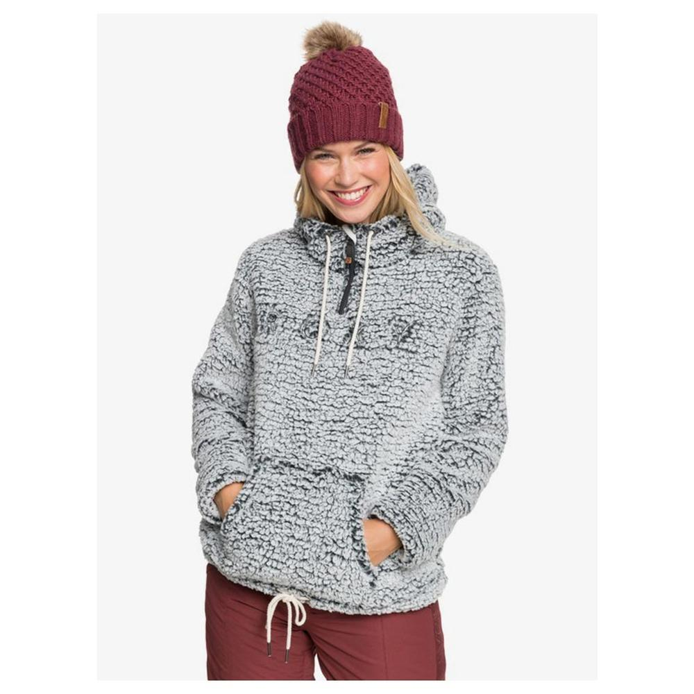 Roxy Pluma Sherpa Technical Half- Zip Hooded Fleece