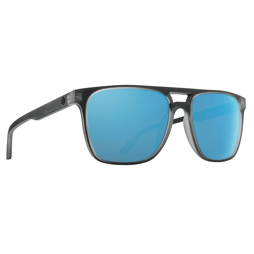 Spy Czar Polarized Sunglasses Matte Black Ice/Hd + Gray Grn
