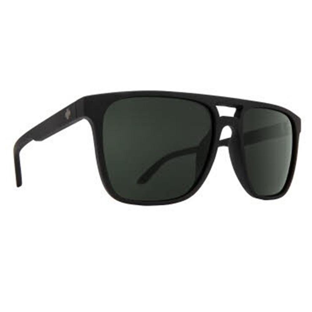 Spy Czar Sunglasses Soft Matte Black/Happy Gray Green