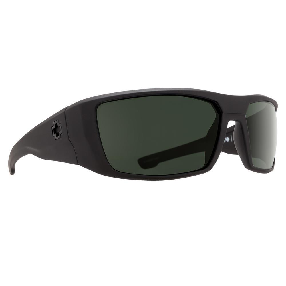 Spy Dirk Sunglasses Soft Matte Black/Happy Gray Green Polar