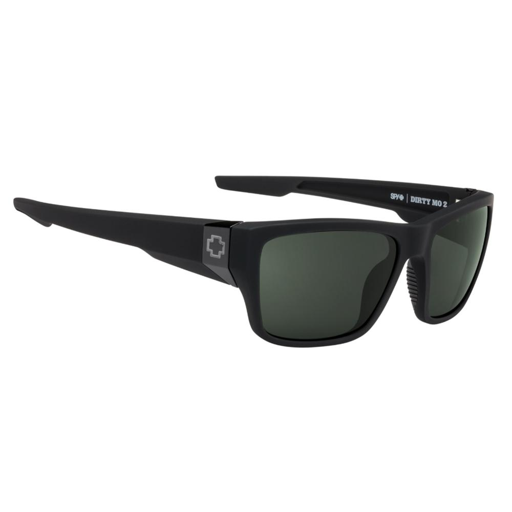Spy Dirty Mo 2 Polarized Sunglasses Soft Matte Black/Hd + Gray Green