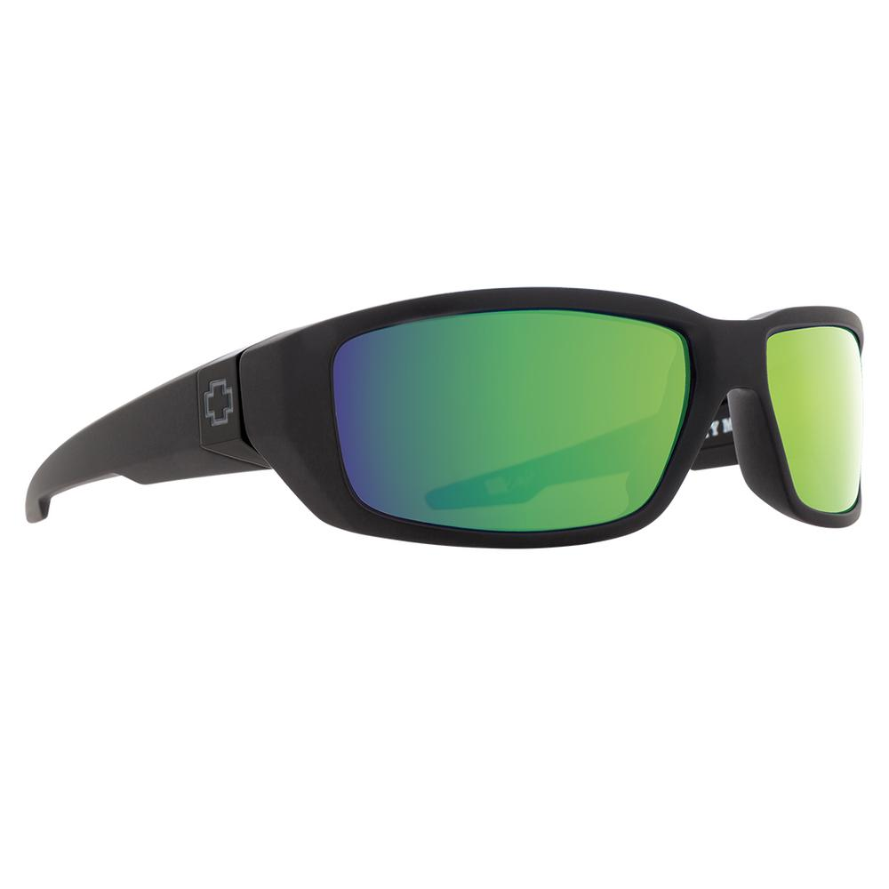 Spy Dirty Mo Sunglasses Matte Black Happy Bronze Polar Green Mirror
