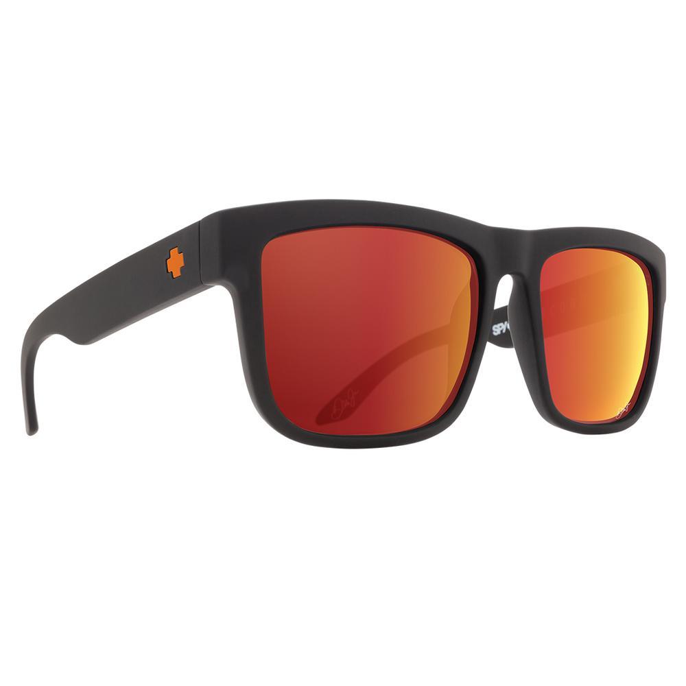 Spy Discord Sunglasses Dale Jr Matte Black/Happy Gray Green W Orange Spectra Mirror