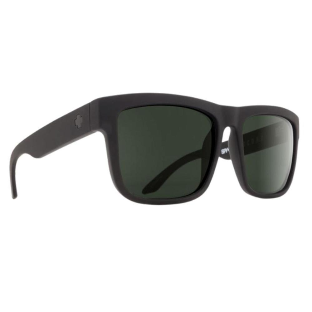 Spy Discord Sunglasses Soft Matte Black Happy Gray Green