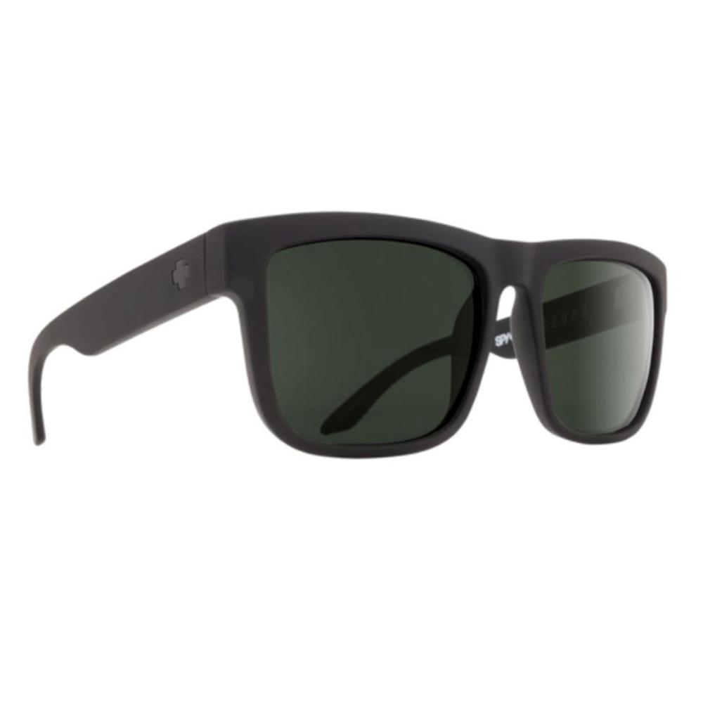Spy Discord Sunglasses Soft Matte Black Happy Gray Green Polar