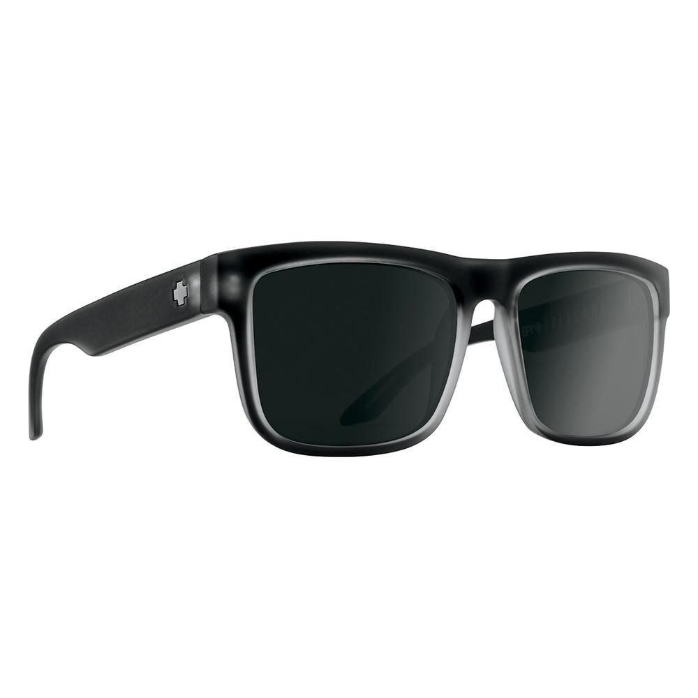 Spy Discord Polarized Sunglasses Matte Black Ice Gray Green Polar W Black Spectra Mirror