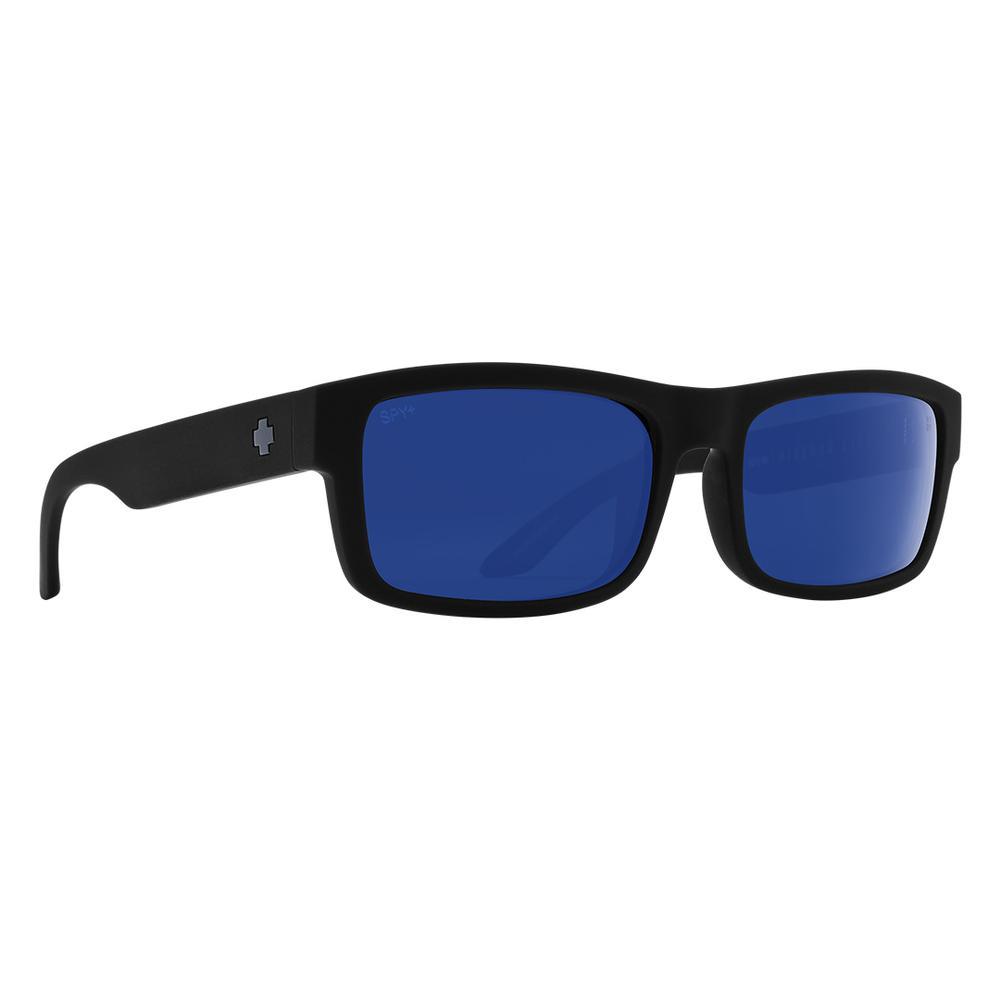 Spy Discord Lite Polarized Sunglasses Soft Matte Black Happy Dark Gray Green Polar W Blue Spectra