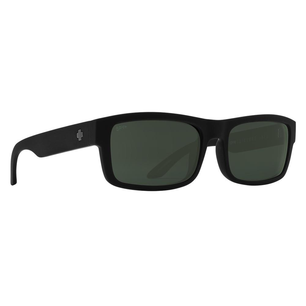 Spy Discord Lite Sunglasses Soft Matte Black Happy Gray Green
