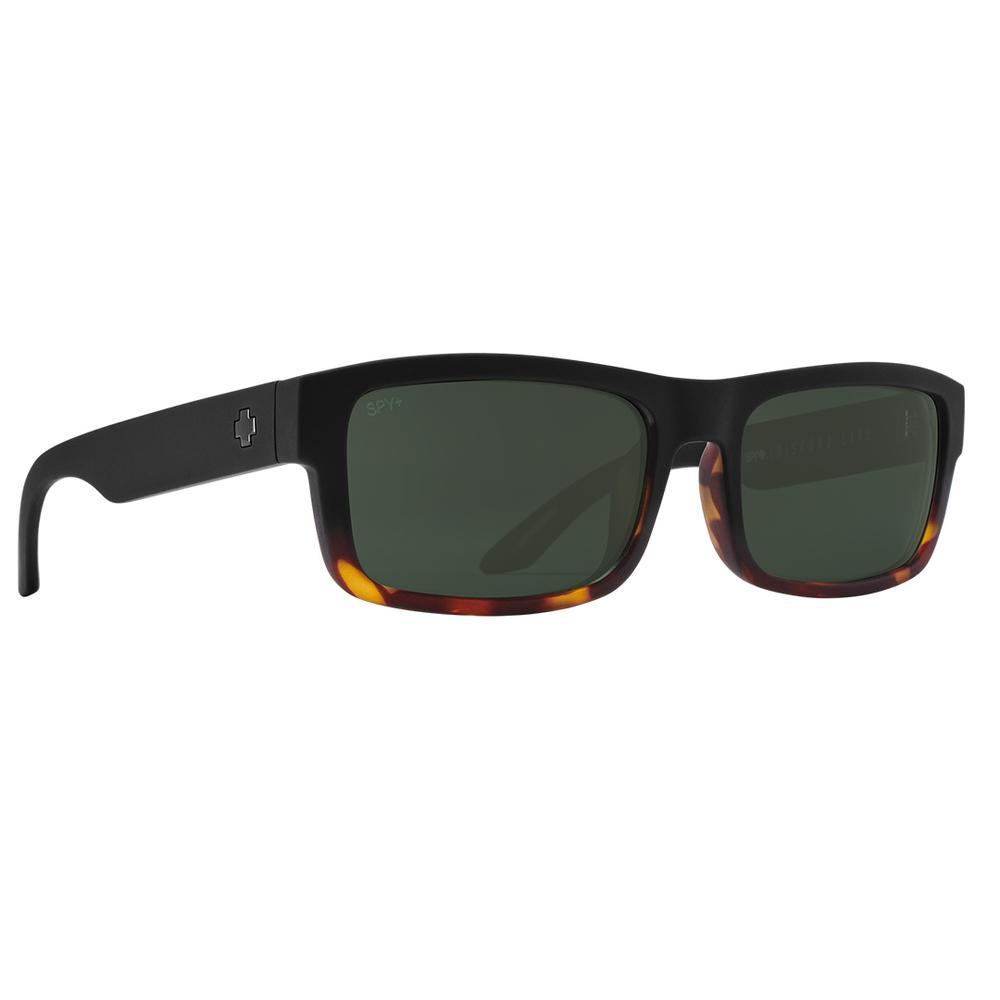 Spy Discord Lite Polarized Sunglasses Matte Black Tortoise Fade Happy Gray Green Polar