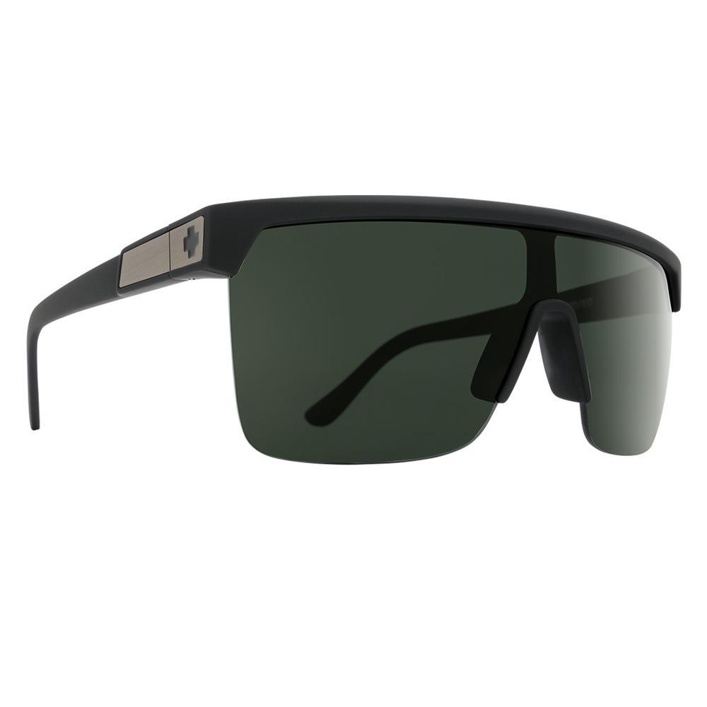 Spy Flynn 5050 Sunglasses Soft Matte Black Happy  Gray Green