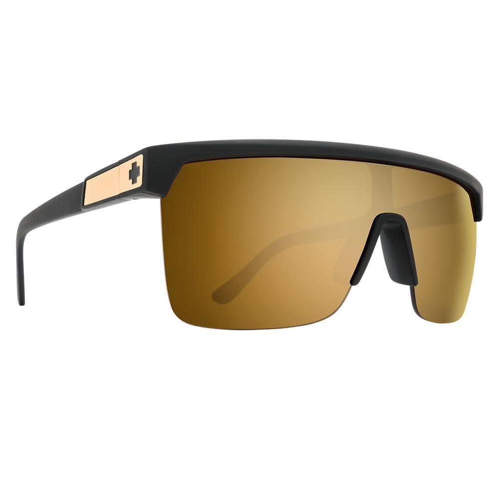 Spy Flynn 5050 Sunglasses 25 Anniversary Matte Black Gold Happy Bronze W Gold Spectra