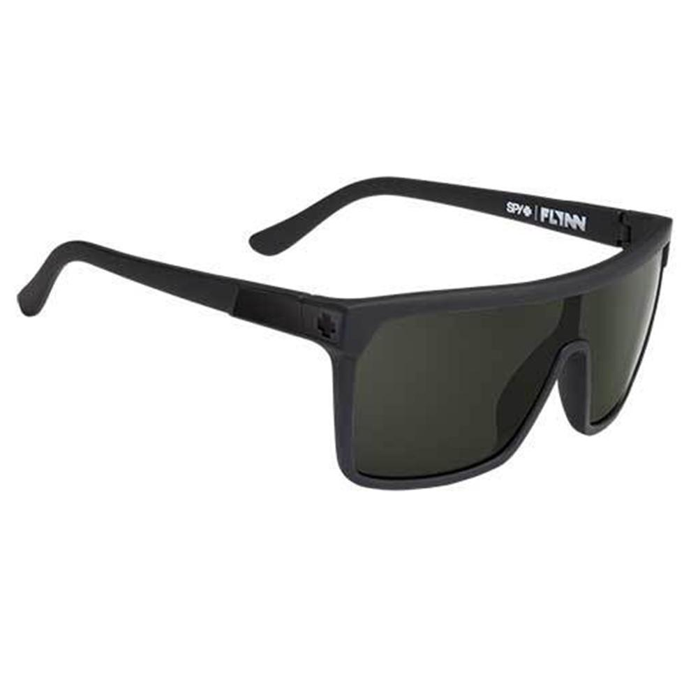 Spy Flynn Sunglasses Soft Matte Black Happy Gray Green