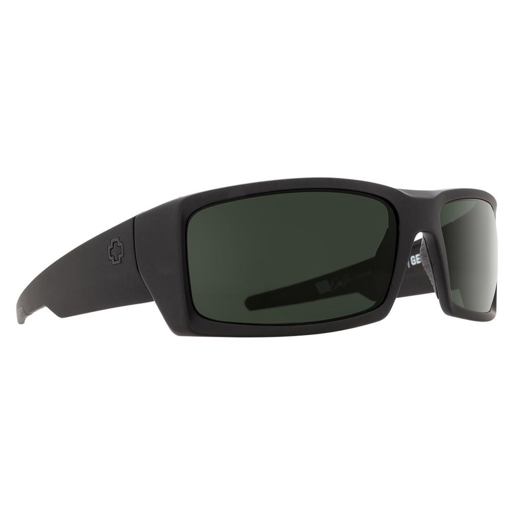 Spy General Polarized Sunglasses Soft Matte Black/Happy Gray Green Polar
