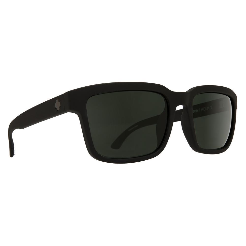 Spy Helm 2 Polarized Sunglasses Matte Black With Happy Gray Green Polar