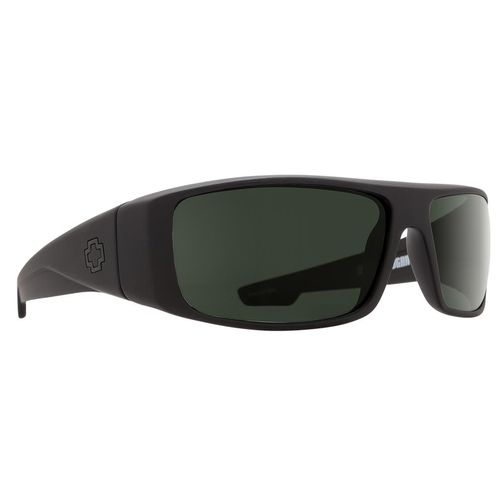 Spy Logan Polarized Sunglasses Soft Matte Black Happy Gray Green Polar