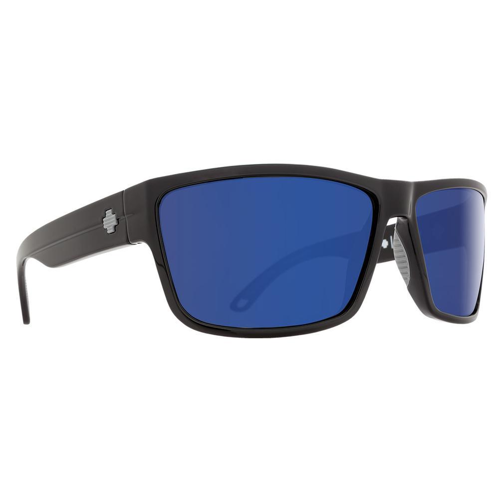 Spy Rocky Polarized Sunglasses Black Happy Bronze Polar W Blue Spectra Mirror