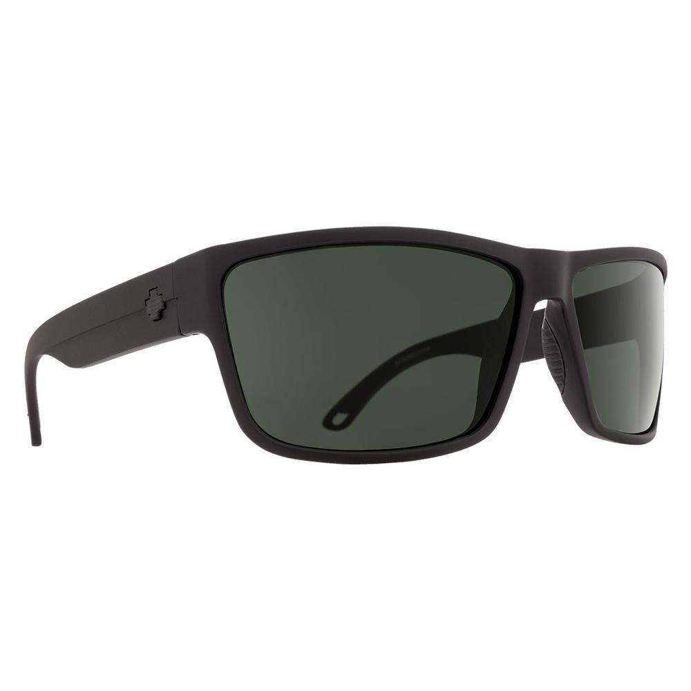 Spy Rocky Sunglasses Matte Black Happy Grey Green