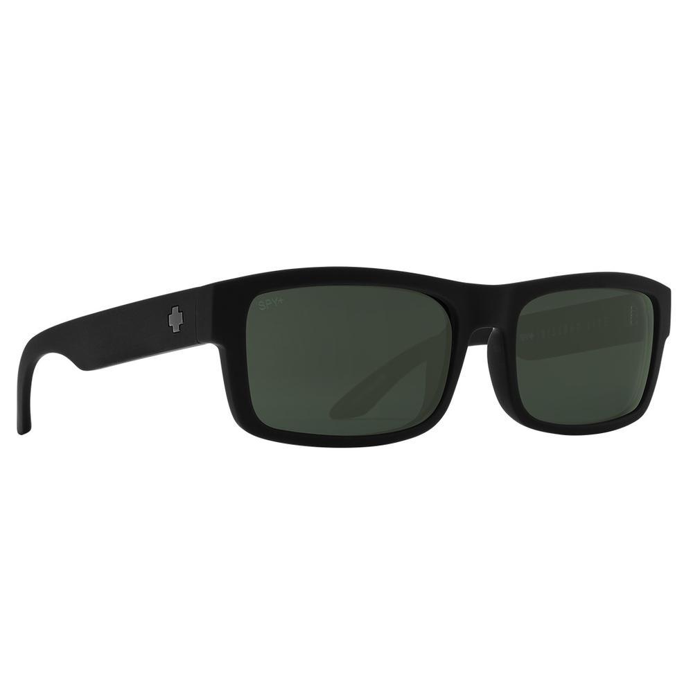 Spy Discord Lite Polarized Sunglasses Soft Matte Black Happy Gray Green Polar