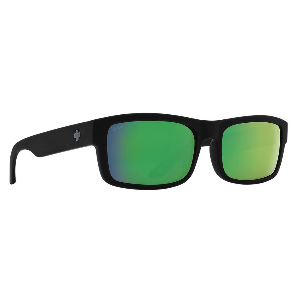 Spy Discord Lite Polarized Sunglasses Matte Black Happy Bronze Polar W Green Spectra Mirror