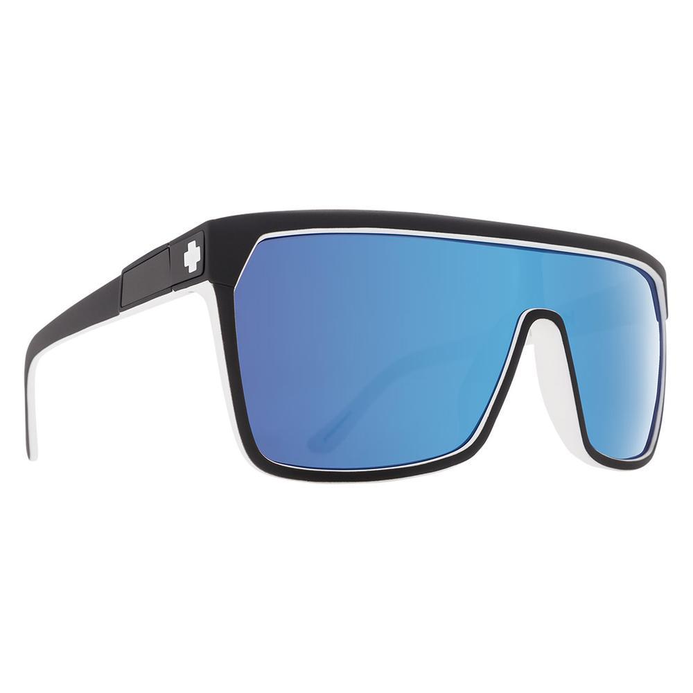 Spy Flynn Sunglasses Whitewall Happy Gray Green W Light Blue Spectra Mirror