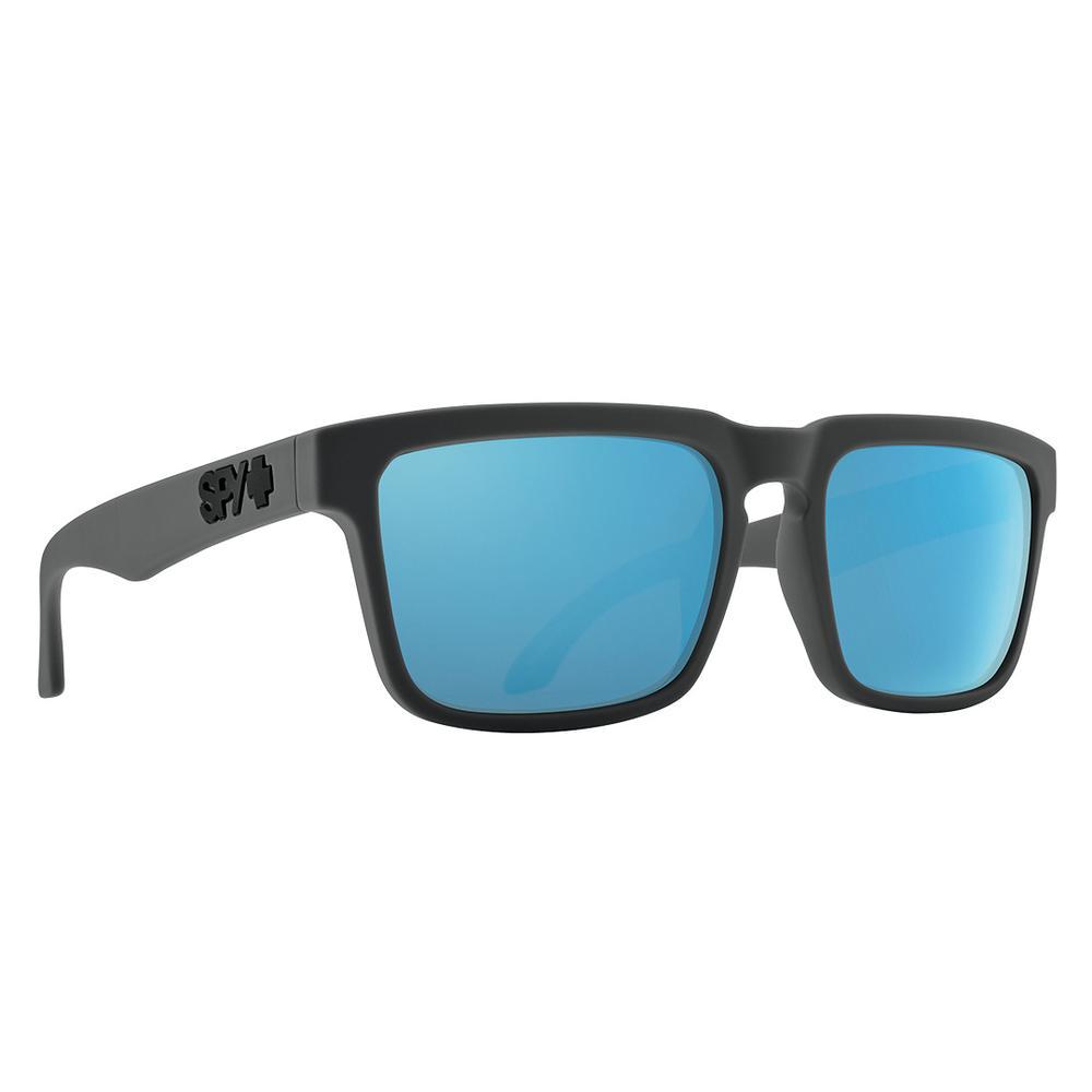 Spy Helm Sunglasses Matte Dark Gray Happy Gray Green Polar W Light Blue Spectra Mirror