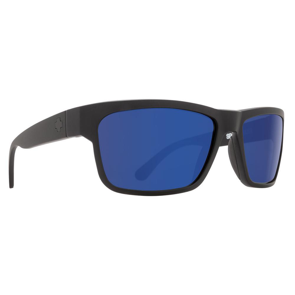 Spy Frazier Polarized Sunglasses Matte Black Happy Bronze Polar W Blue Spectra Mirror