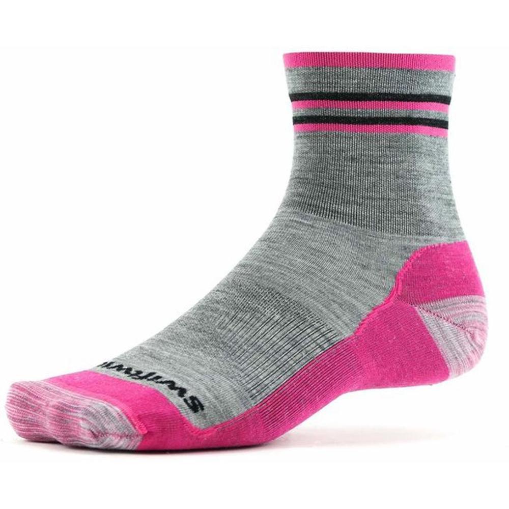 Swiftwick- PURSUIT FOUR Ultralight Trail Running and Cycling Socks Mens Womens Merino Wool