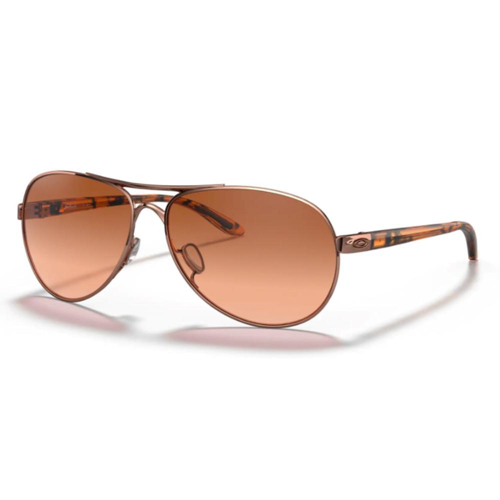 Oakley Feedback Rose Gold Brown Gradient Sunglasses