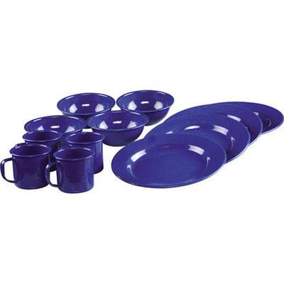 ENAMELWARE DINING SET BLUE 12PC