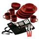 Enamelware 24pc Red C002