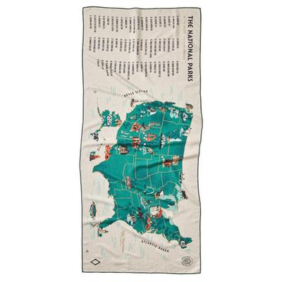 59 PARKS US MAP TOWEL SINGLE SIDED