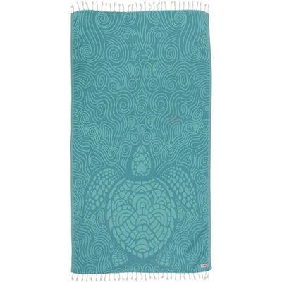 MINT SWIRL TURTLE TOWEL  WS