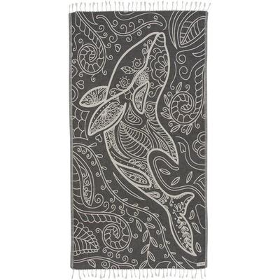 FLORAL DOLPHIN TOWEL  WS