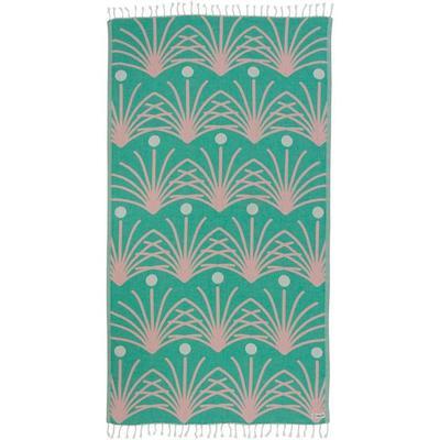 GREEN RETRO PALM TOWEL  WS
