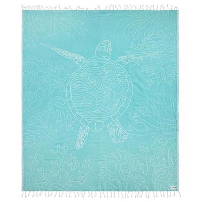 TURQUOISE SEA TURTLE REEF  LARGE TOWEL - WS