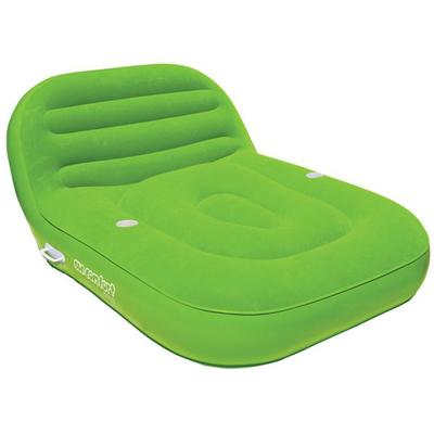 SUN COMFORT COOL SUEDE DOUBLE CHAISE LOUNGE LIME