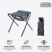 COLLAPSIBLE CAMP STOOL BLACK/SILVER