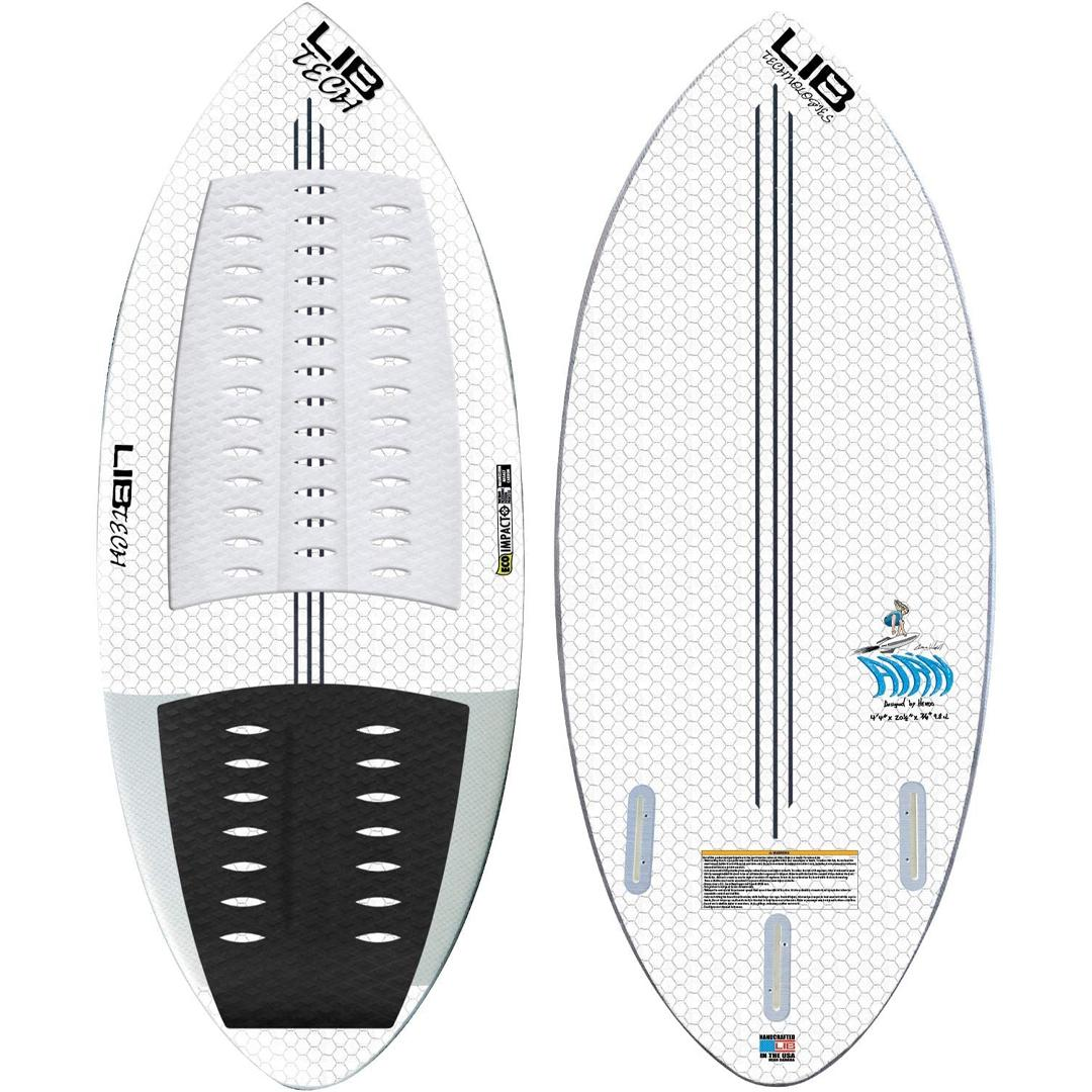 """Carbon/Balsa I Beam Spine.Low Rocker For Maximum Speed, Op And Consistency.Full Wrap Tucked Hard Edge.Lib Eco Impacto Construction.Two Double Foiled """" Nubb """" Lead Fins.Size : 1 5/8 """"."""