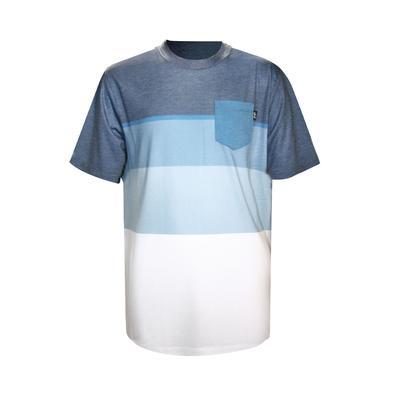 B BLOCK STRIPE KNIT TEE