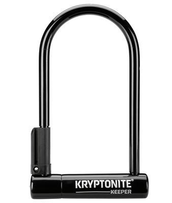 KEEPER U-LOCK - 4 X 10`, KEYED, BLACK, INCLUDES BRACKET