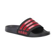 ADILETTE SHOWER BLK/SCARLET