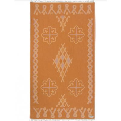 HONEY STAMPLED MOROCCAN TOWEL  WS
