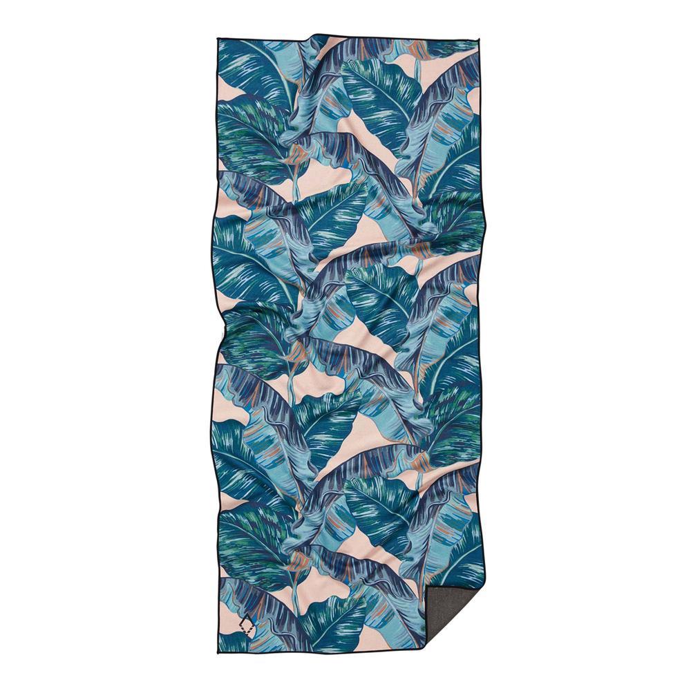 Banana Leaf Teal Towel