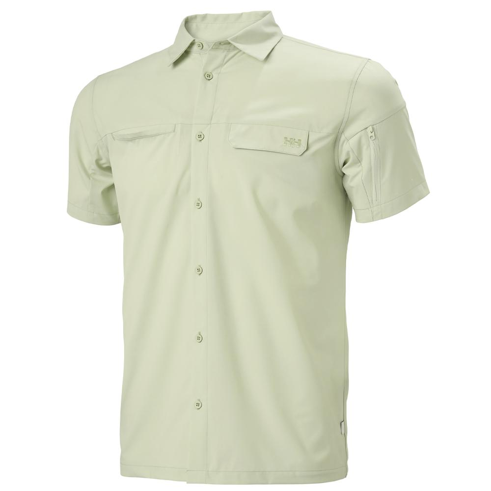 Lightweight, Technical And Moisture Wickingfabric, Hh ®, Custom Buttons Closure On Front And Cuffs, Fabric, Chest Pocket And Sleeve Pocket, Upf30