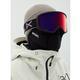 Anon Women's Deringer Goggles+ Bonus Lens+ MFI Face Mask Snow Perceive Sunny Red/ Waves