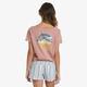 Roxy Mountain Dream V-Neck Tee Shirt-Back