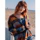 Volcom Women's Plaid To Meet U Long Sleeve Shirt